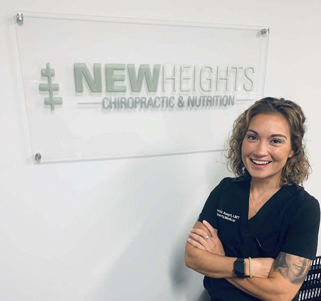 Massage Therapist in Bucks County, Alecia Aungst - New Height Chiro